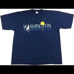 Vintage 1996 Washington Graphic T-Shirt Size XXL
